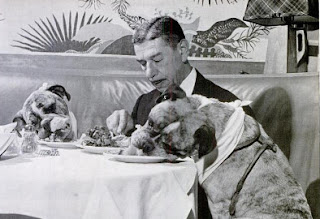 Romanoff and dogs, 1945