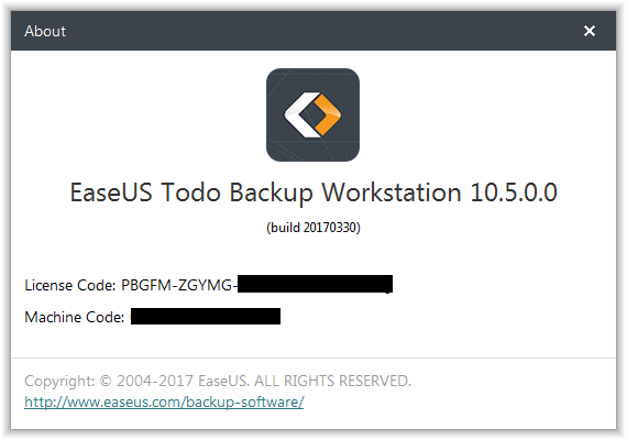 easeus todo backup license code free