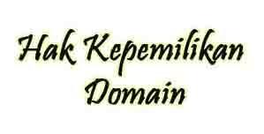 hak kepemilikan nama domain