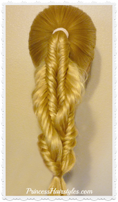 Spiral twist fishtail braid video tutorial
