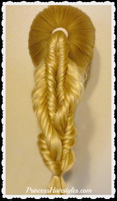 Spiral twist fishtail braid video tutorial