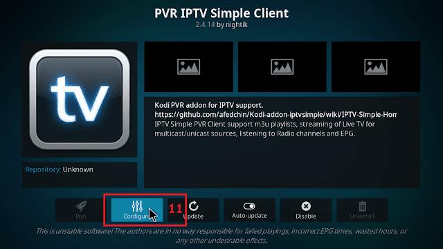 Cara menjalankan IPTV di KODI tahap 10