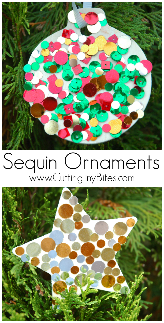 Sequin Ornaments | What Can We Do With Paper And Glue