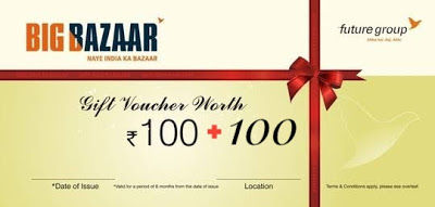 Give Misscall & Get Free Rs.200 Big Bazaar Cashback Coupon
