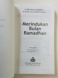 Merindukan Bulan Ramadhan