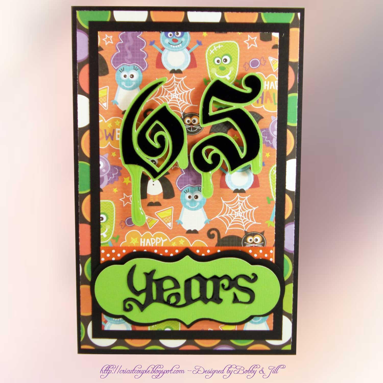 Cricut Couple: Spooky 65th Birthday Card