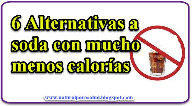 6 Alternativas a soda con mucho menos calorías