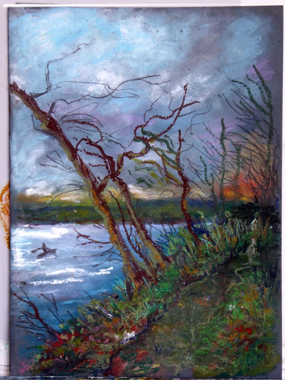 Art de vivre la peinture de peintrefiguratif croquis pastel gras au mus e du louvre for Peinture pastel gras