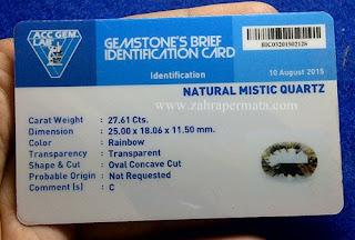Batu Permata Mystic Quartz + Memo - ZP 612