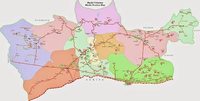 Mapa província de Mardin – Turquia