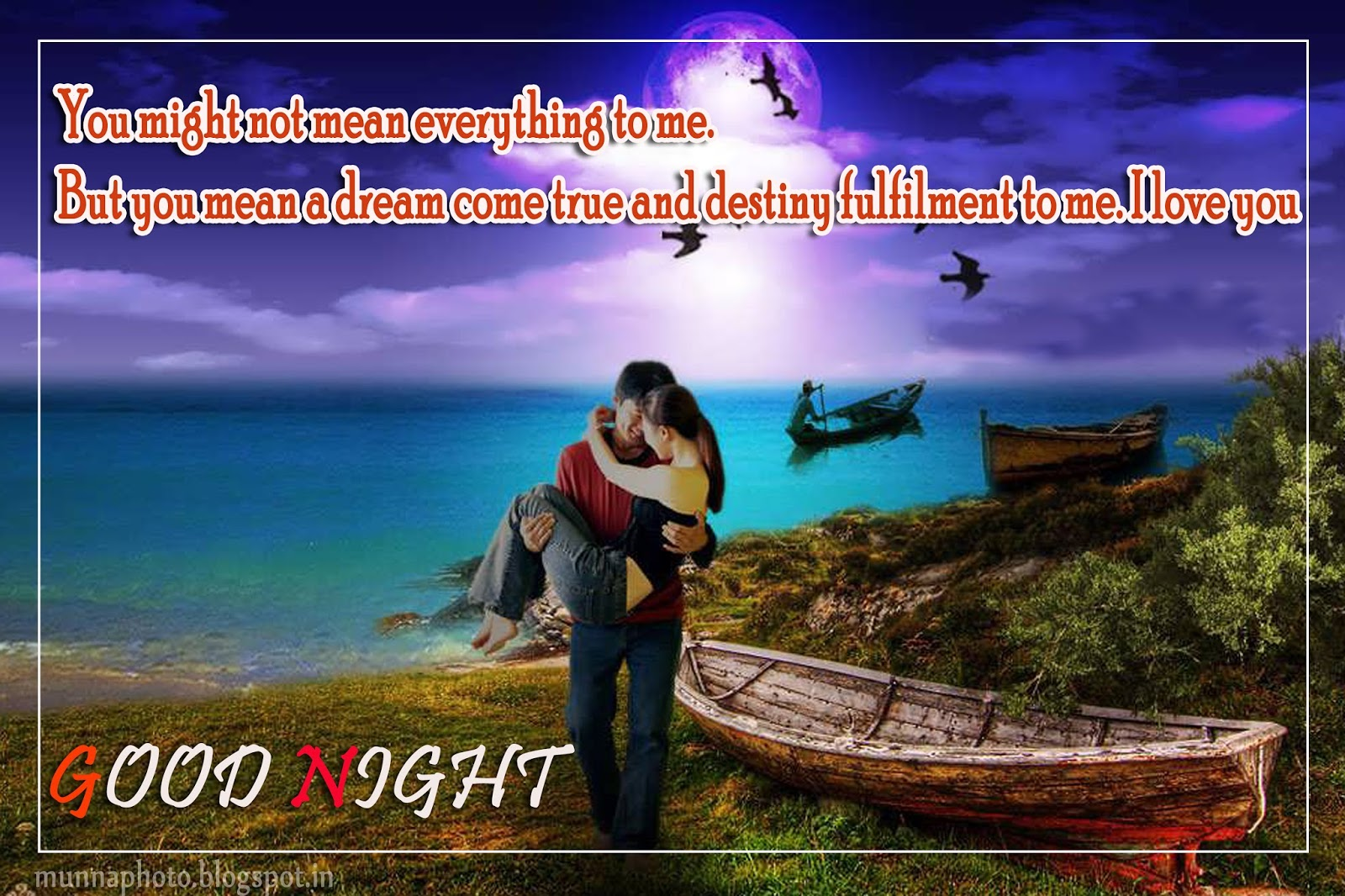 Sweet Couple Romantic Good Night Wallpaper Munna Photo