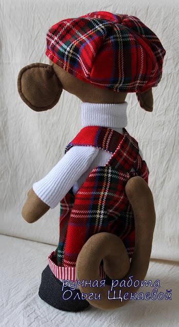 обезьянка, символ года, текстильная игрушка