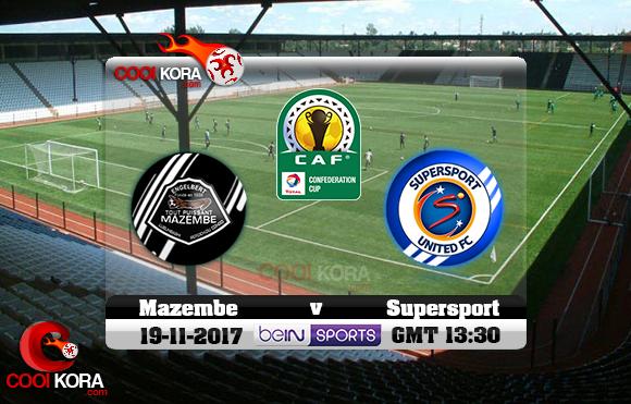مشاهدة مباراة مازيمبي وسوبر سبورت اليوم 19-11-2017 نهائي كأس الإتحاد الأفريقي