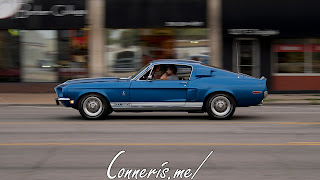 Draggin Douglas Classic Blue Ford Shelby Mustang GT350