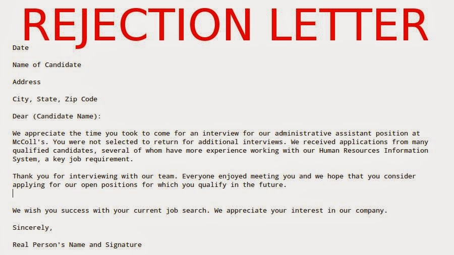 Job application letter rejection thecheapjerseys Gallery