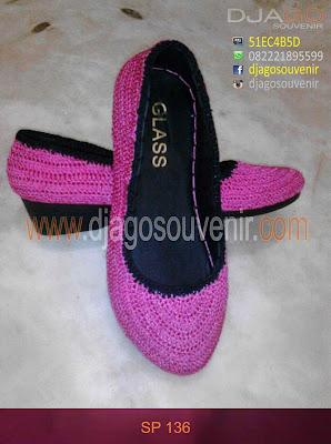 Sepatu rajut wedges hak 3 cm dijual murah