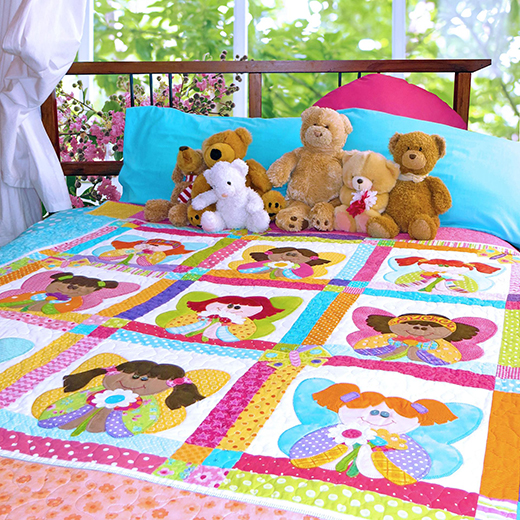 The Flower Fairies Quilt Free Pattern Designed by The Red Boot Quilt Company