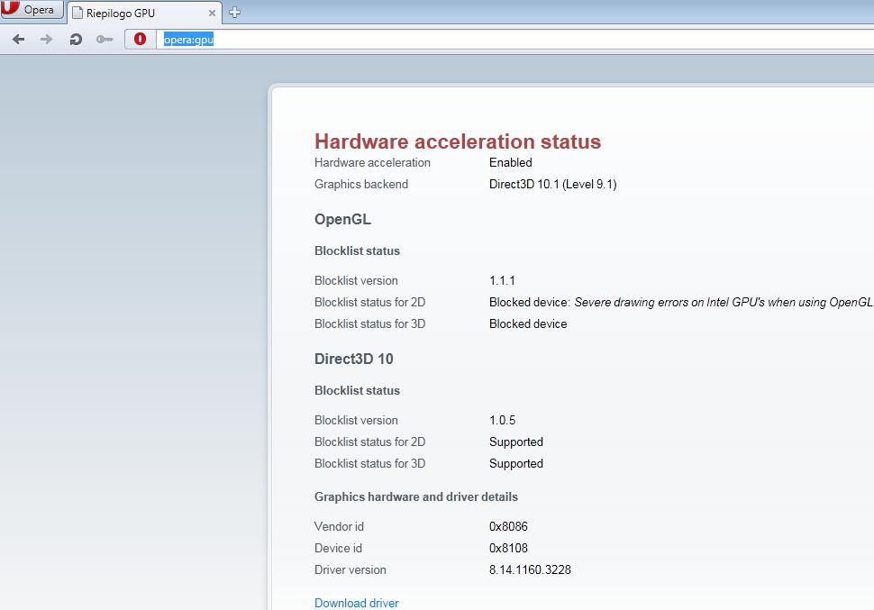 Intel GMA 500 Driver Optimized for MS Windows : febbraio 2013