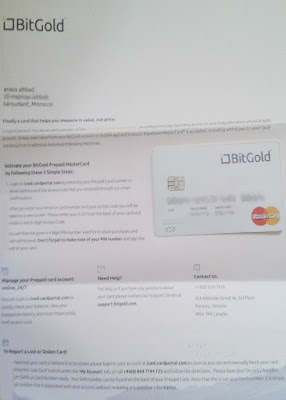 بطاقة ماستر كارد BitGold