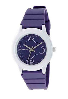 Deals on Sonata Fashion Fibre Analog Black Dial Women's Watch