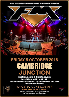 FM at Cambridge Junction - 5 Oct 2018 - tour dates poster