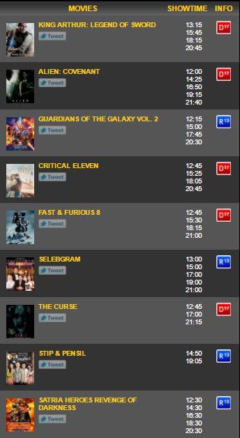 Jadwal Bioskop di Cibinong City XXI - Jadwal Bioskop Terbaru