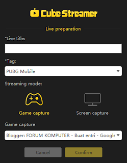 Cara Live Streaming Cube TV di Komputer/Laptop