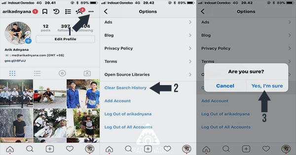Cara Menghapus Riwayat Pencarian atau History di Instagram