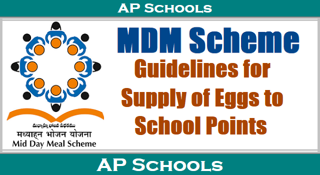 AP MDM Guidelines for Supply of Eggs to School Points 2017