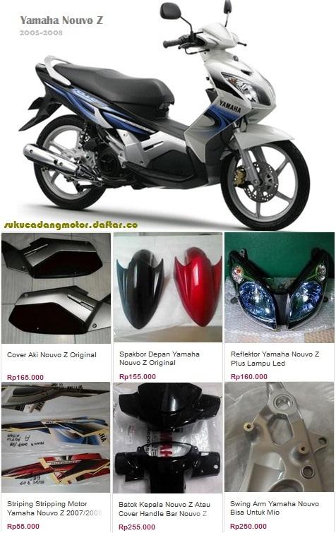 Daftar Harga Sparepart Yamaha Nouvo Z