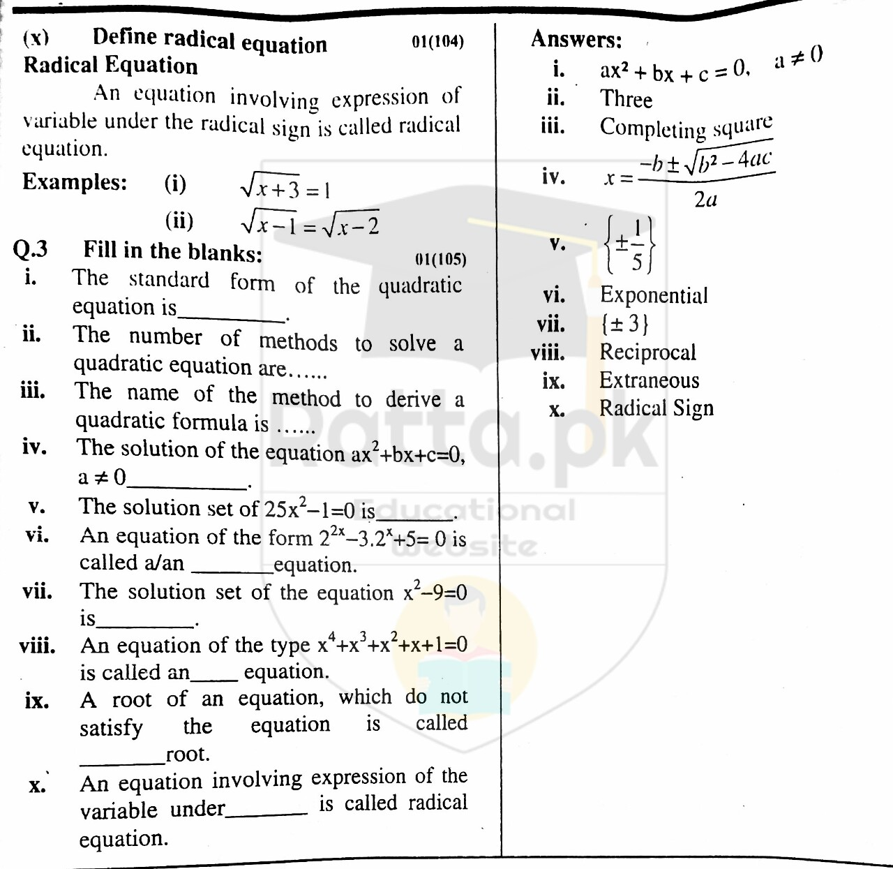 10th Maths Misc. Exercise 1 Solved Obectives 1