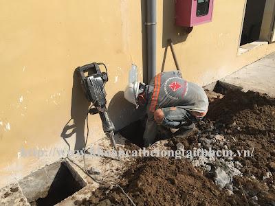 Khoan cắt bê tông tại huyện An Minh