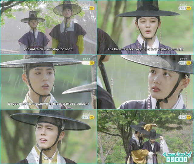 ra on & crown Prince run in the rain   - Love In The Moonlight - Episode 12 Review