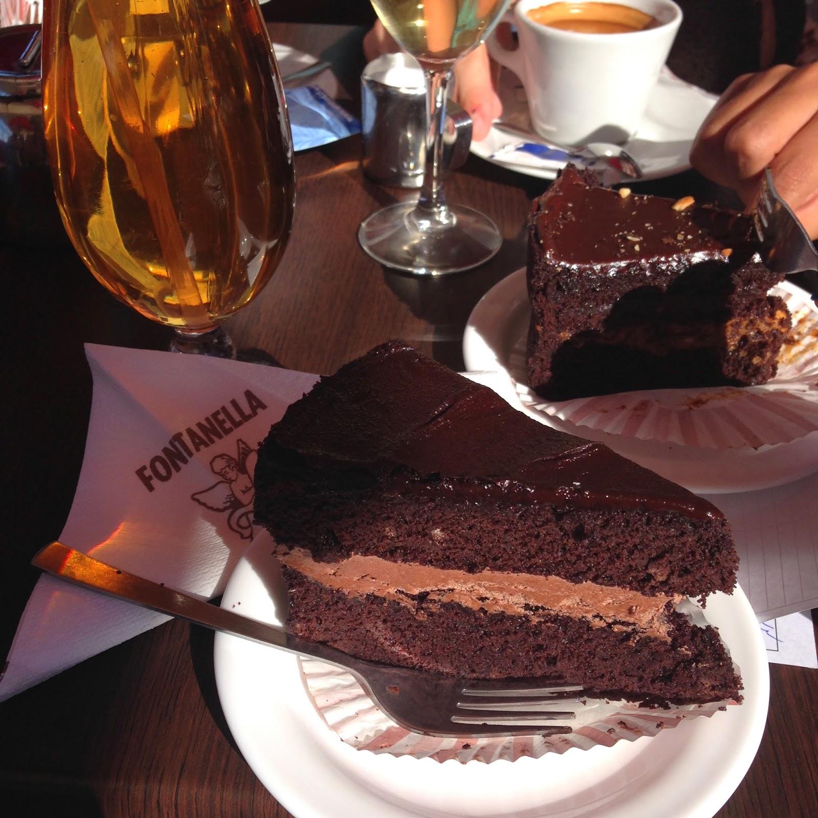 La fenomenale torta di cioccolato di Fontanella a M'dina - foto di Elisa Chisana Hoshi