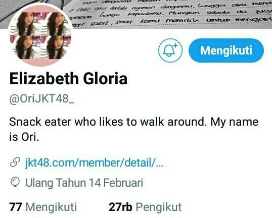 Akun Twitter Member JKT48