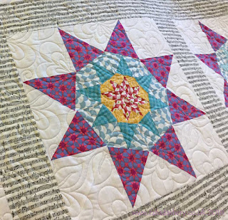 Foundation Pieced Star Quilt, made by Penny,  quilted by Frances Meredith at Fabadashery Long Arm Quilting
