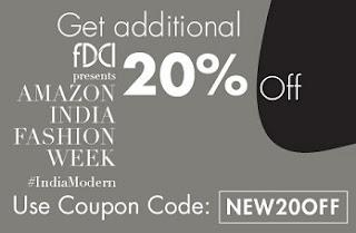 Amazon India Fashion Week: Upto 70% Off+ Extra 20% Off on Men's / Women's / Kids Clothing