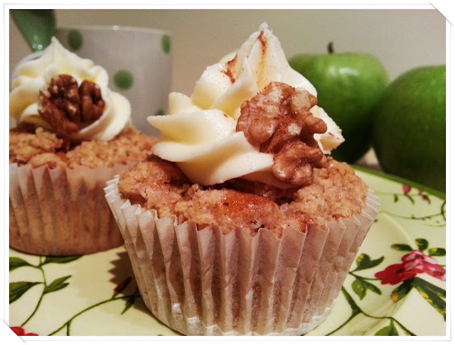 cupcakes crumble manzana