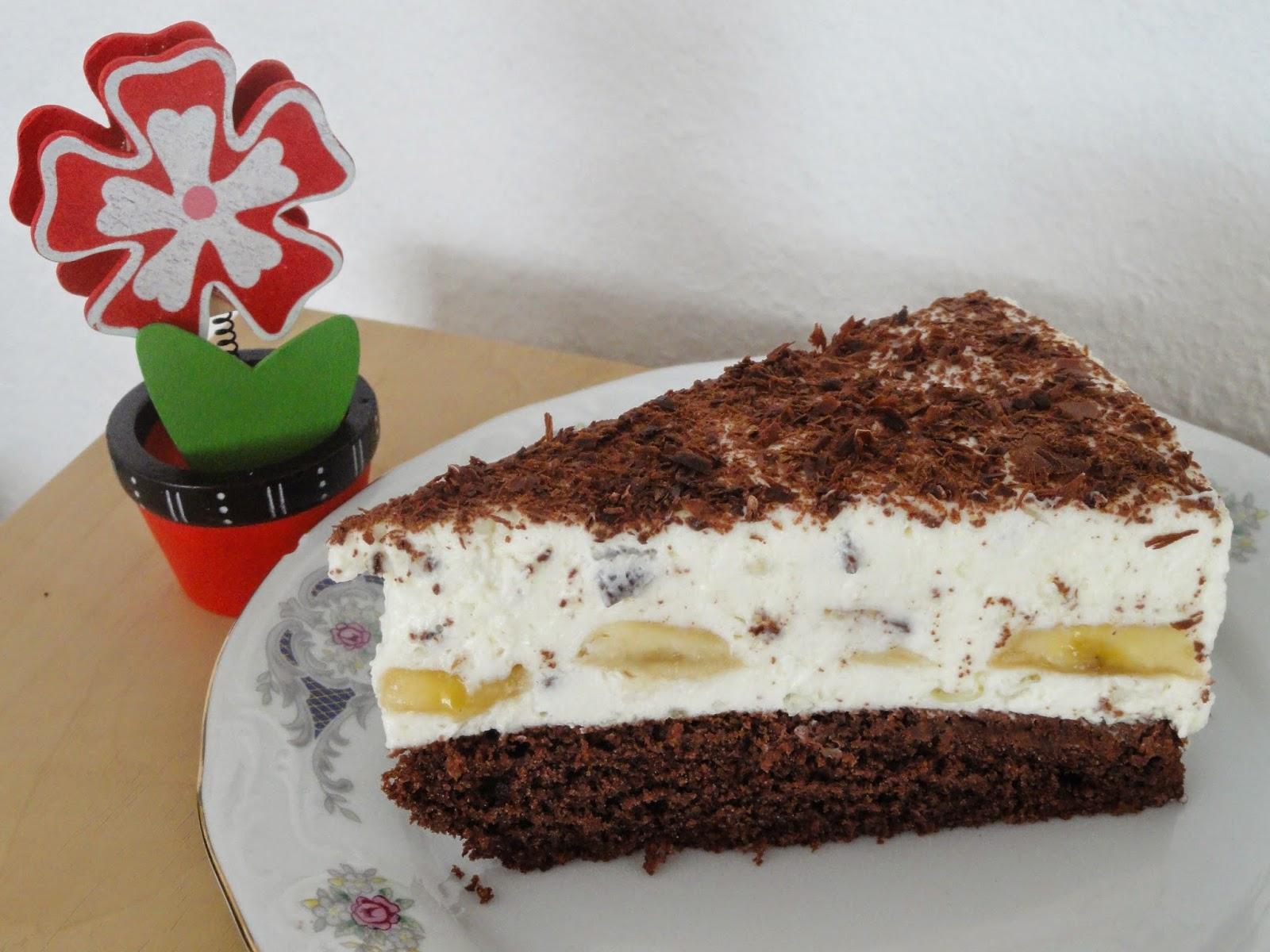 Farbenfrohe Kinkerlitzchen Bananen Split Torte