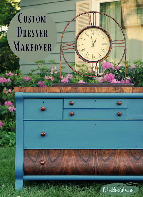 custom color empire buffet dresser painted makeover general finsihes paint