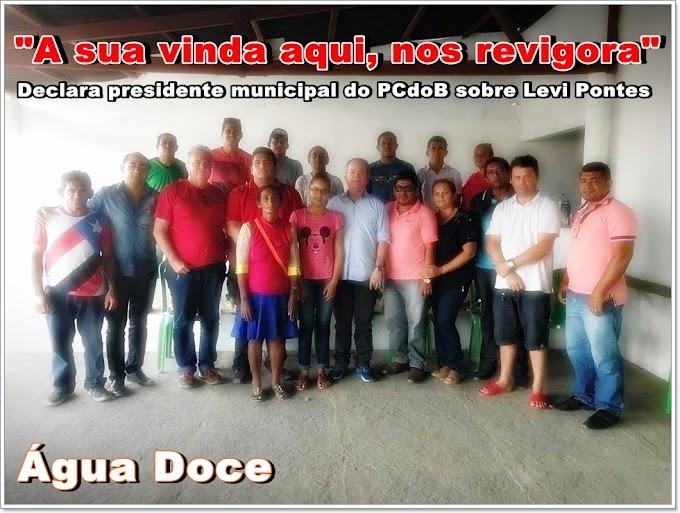 """""""A sua vinda aqui, nos revigora"""", declara presidente municipal do PCdoB sobre Levi Pontes"""