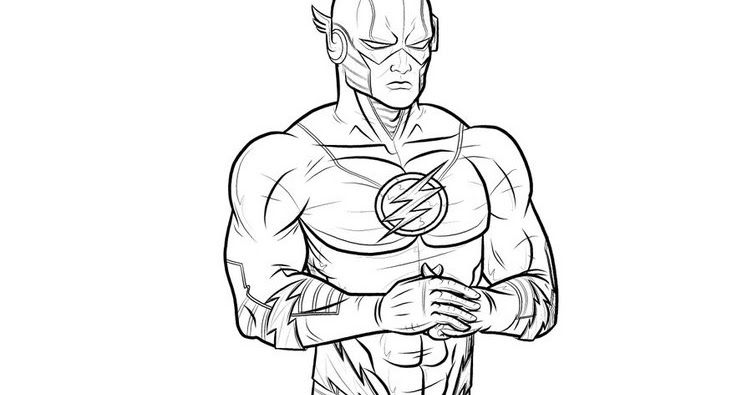 Righteous Judgment: Download Superhero Flash Coloring Pages