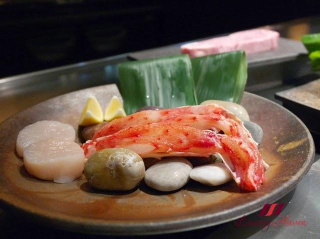 keio plaza teppan yaki yamanami dinner course seafood