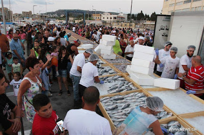 Lebanon Enters Guinness Book Of World Record For Largest Seafood Display. Photos