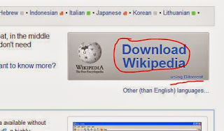 Downloading the offline version of wikipedia