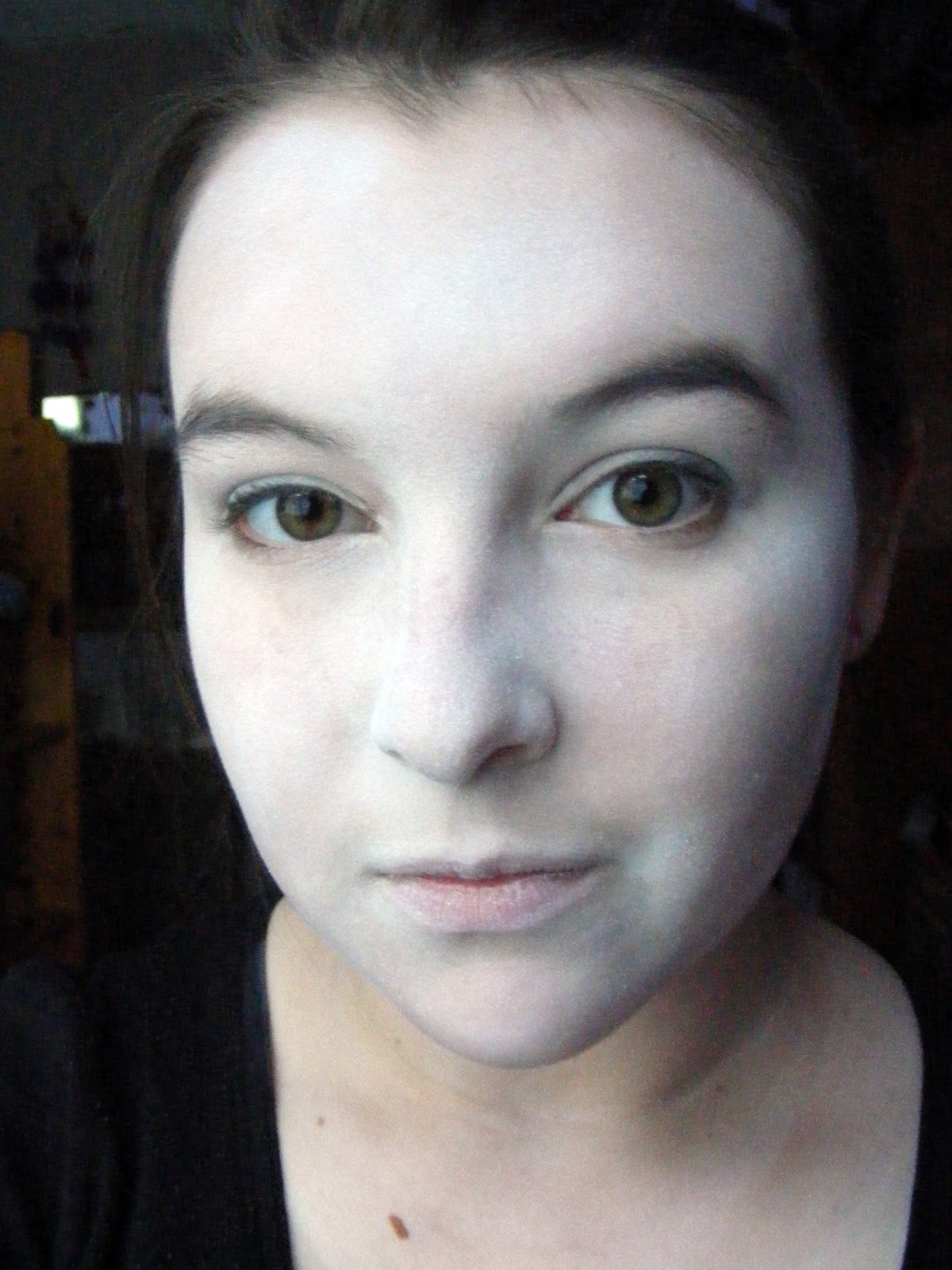 Could Use A White Eyeshadow Foundation Or Facepaint If You Be Sure To Set It With Baby Powder So Doesn T