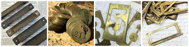 vintage hardware, vintage locker tags, locker tags, vintage metal numbers, etsy