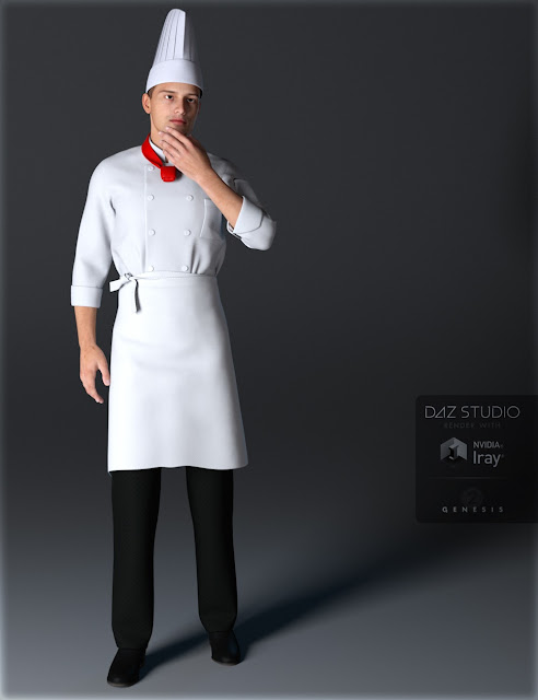 Chef Uniforms for Genesis 2 Male