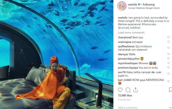 Neelofa Menginap di The Muraka Dengan Harga RM200k Satu Malam