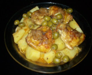 Moroccan chicken tagine with potatoes and olives